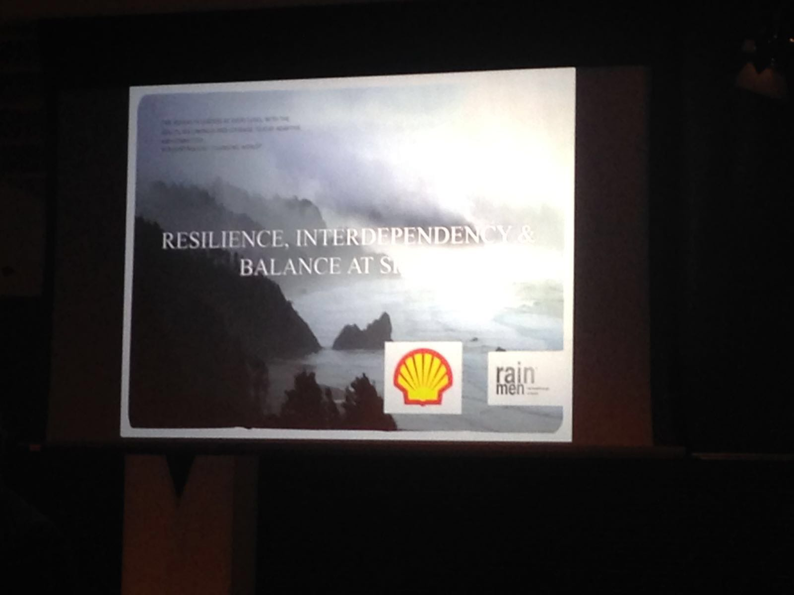 Shell Mindfulness Workshop, Oktober 2016