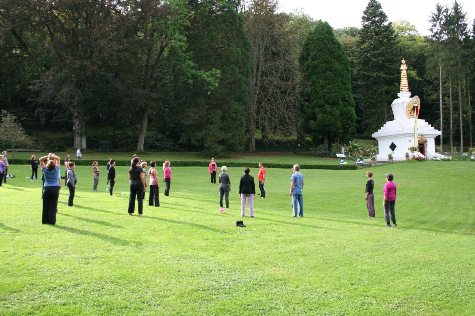 Yoga & Mindfulness retraite september 2014 Huy Belgie
